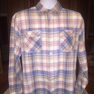 Vintage Levi's Western synthetic plaid shirt M/L